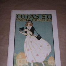 Libros antiguos: FOTOGRAFIA CATALOGO 1917 - CUYAS S EN C MATERIAL FOTOGRAFICO BARCELONA MUY ILUSTRADO 32 PAG+ ENCARTE. Lote 30522536