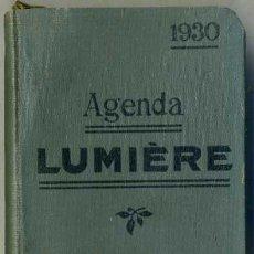 Libros antiguos: AGENDA LUMIERE 1930 - EN FRANCÉS. Lote 31389932