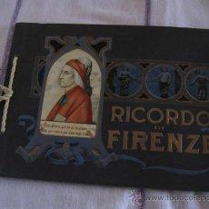 Libros antiguos: LIBRO LAMINAS- FOTOGRAFIAS ANTIGUAS DE FLORENCIA ( RICORDO DI FIRENZE ). Lote 34297715