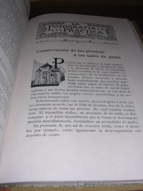 Libros antiguos: FOTOGRAFIA - REVISTA ,LA FOTOGRAFIA PRACTICA 1902 REVISTA MENSUAL ILUSTRADA DIRECTOR J.BALTA DE CELA - Foto 7 - 34783492
