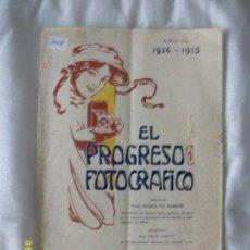 Livres anciens: EL PROGRESO FOTOGRAFICO AÑO II 1914-1915. Lote 37624195
