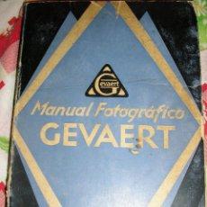 Libros antiguos: MANUAL FOTOGRAFICO GEVAERT - BELGICA - 1927 - EN ESPAÑOL - INCUNABLE!!. Lote 40078892