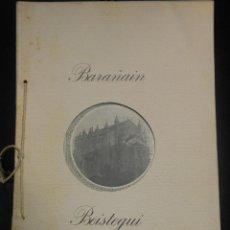 Libros antiguos: PAMPLONA - FOLLETO DE LA IGLESIA -PANTEON DE BARAÑAIN CON 7 LAMINAS FOTOGRAFIA NAVARRA. Lote 41383776