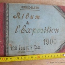 Libros antiguos: LIBRO ANTIGUO FOTOGRAFIAS TAMAÑO POSTAL PARIS ALBUM DE L, EXPOSITION 1900 FRANCE FRANCIA. Lote 44649847