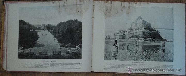 Libros antiguos: LE PANORAMA, MERVEILLES DE FRANCE ALGERIE BELGIQUE SUISSE, UN GRAND PANORAMA ET 14 PHOTOGRAPHIES - Foto 3 - 45621312