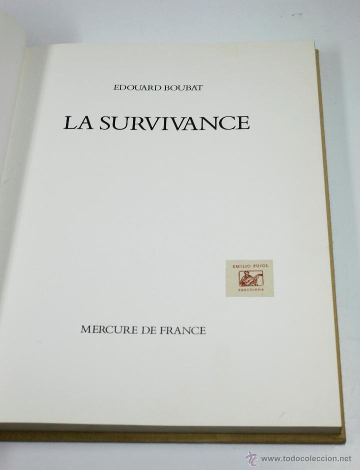 LA SURVIVANCE, FOTOGRAFÍAS DE EDOUARD BOUBAT, MERCURE DE FRANCE, 1976. 28X27 CM. (Libros Antiguos, Raros y Curiosos - Bellas artes, ocio y coleccion - Diseño y Fotografía)