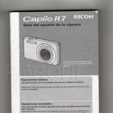 Libros antiguos: GUÍA DEL USUARIO DE LA CÁMARA - RICOH CAPLIO R7-. Lote 50076626