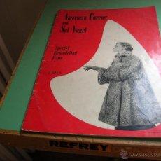 Libros antiguos: REVISTA DE PELETERIA AMERICAN FURRIER AND SOL VOGEL. Lote 50363220