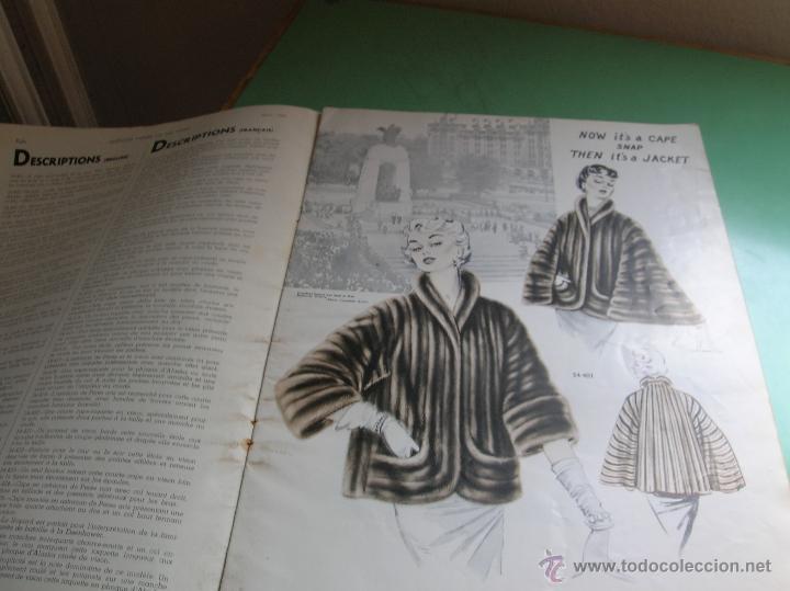 Libros antiguos: Revista de peleteria American Furrier and Sol Vogel año 1954 - Foto 2 - 50366575