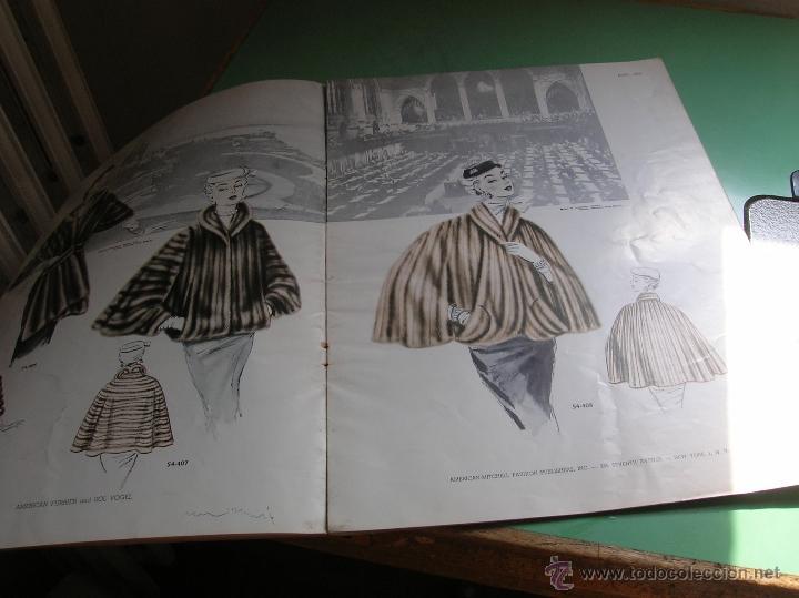 Libros antiguos: Revista de peleteria American Furrier and Sol Vogel año 1954 - Foto 3 - 50366575
