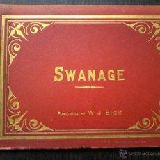 Libros antiguos: SWANAGE .LIBRO DE 16 FOTOGRAFIAS DE FINALES DEL SIGLO XIX. PUBLICADO POR W J BICK. Lote 53046826