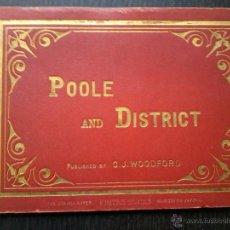 Libros antiguos: POOLE AND DISTRICT .LIBRO DE 16 FOTOGRAFIAS DE FINALES DEL SIGLO XIX. PUBLICADO POR C.J.WOODFORD. Lote 53046906