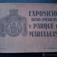 Libros antiguos: EXPOSICION IBERO-AMERICANA Y PARQUE DE MARIA LUISA . ADOLF FORKER . 12 VISTAS COLOR.. Lote 53047642