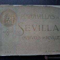 Libros antiguos: MARAVILLAS DE SEVILLA .20 VISTAS COLOR. ADOLF FORKER .. Lote 53047749