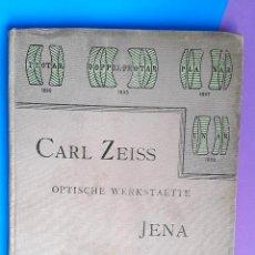 Libros antiguos: CARL ZEISS - OPTISCHE WERKSTAETTE - JENA CATALOGUE - 1901. Lote 53281472