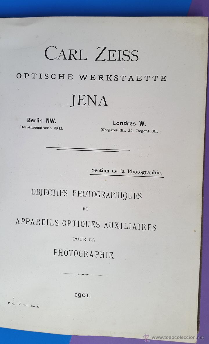 Libros antiguos: CARL ZEISS - Optische Werkstaette - Jena Catalogue - 1901 - Foto 3 - 53281472