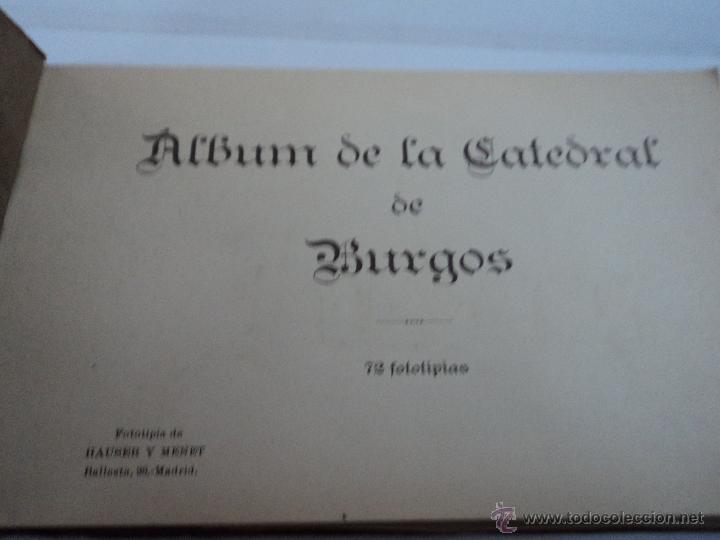 Libros antiguos: ALBUM 72 FOTOtIPIAS DE LA CATEDRAL DE BURGOS HAUSER Y MENET - Foto 2 - 197702707