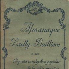 Libros antiguos: ALMANAQUE BAILLY-BAILLIERE 1926 . REPORTAJES ESQUI, ALGUNAS PAGINAS BICOLOR AGRICULTURA TRENES. Lote 53830237
