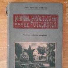 Libros antiguos: RODOLFO NAMIAS. MANUAL PRÁCTICO Y RECETARIO DE FOTOGRAFÍA.1912. 3A. ED.CASA ED. BAILLY-BAILLERE. Lote 56004956