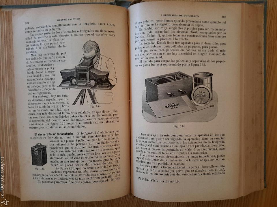 Libros antiguos: Rodolfo Namias. Manual práctico y Recetario de Fotografía.1912. 3a. ed.Casa ed. Bailly-Baillere - Foto 6 - 56004956