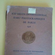Libros antiguos: ANTIGUO ALBUM - XXI SALON INTERNATIONAL D'ART PHOTOGRAPHIQUE DE PARIS -AÑO 1926- BRAUN & CIE. R-2079. Lote 44144418