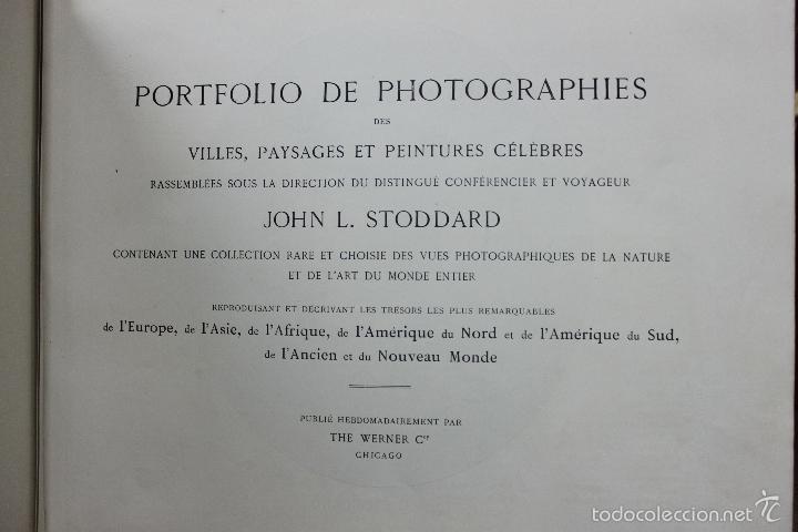 PORTFOLIO DE PHOTOGRAPHIES DE VILLES, PAYSAGES ET PEINTURES... JOHN. L. STODDARD. C. 1900. 1ª ED. (Libros Antiguos, Raros y Curiosos - Bellas artes, ocio y coleccion - Diseño y Fotografía)