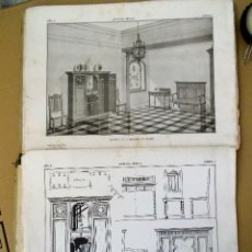 Libros antiguos: CARPETA LIBRO DE LAMINAS DE FINALES DEL XIX PP DEL XX MAS DE 100. Lote 57736485