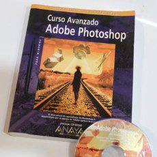 Libros antiguos: CURSO AVANZADO ADOBE PHOTOSHOP, INCLUYE CD, EDITORIAL AMAYA, PARA PHOTOSHOP 3. Lote 58452806