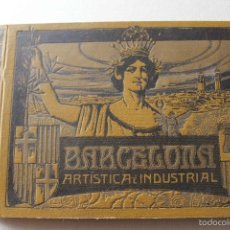 Libros antiguos: ALBUM BARCELONA ARTÍSTICA E INDUSTRIAL. EMILIO CANET. FOTOGRAFIA HISTORIA CIUDAD. 1918. Lote 60412851
