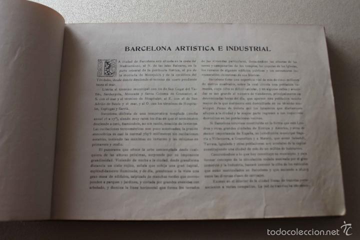 Libros antiguos: Album Barcelona artística e industrial. Emilio Canet. Fotografia Historia Ciudad. 1918 - Foto 4 - 60412851