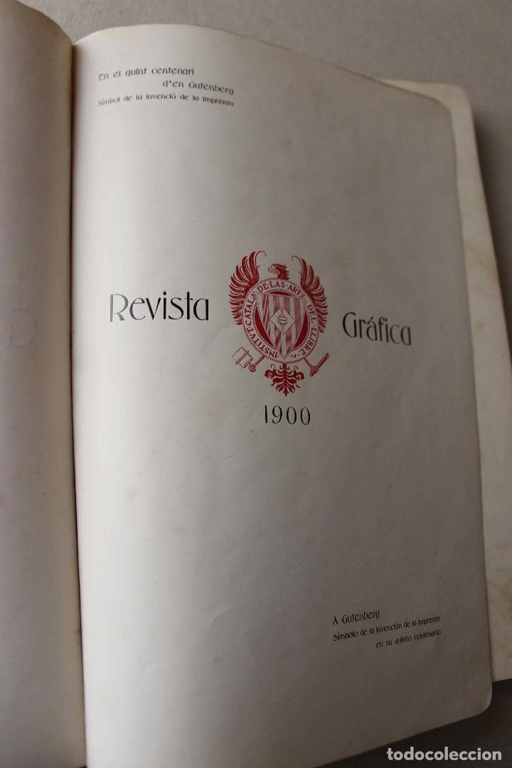 Libros antiguos: Revista Gràfica en el V centenari d'en Gutenberg. Institut Català d'Arts del Llibre. 1900 Canivell - Foto 5 - 61821556