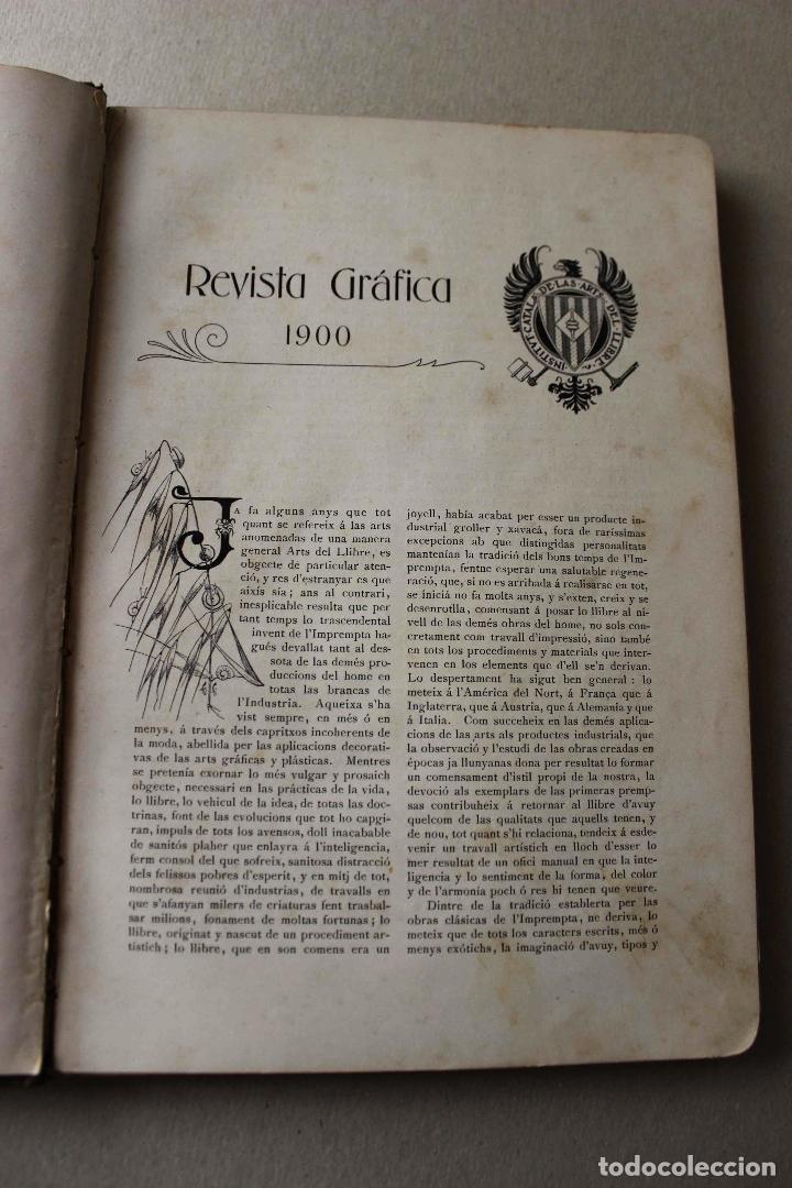 Libros antiguos: Revista Gràfica en el V centenari d'en Gutenberg. Institut Català d'Arts del Llibre. 1900 Canivell - Foto 6 - 61821556