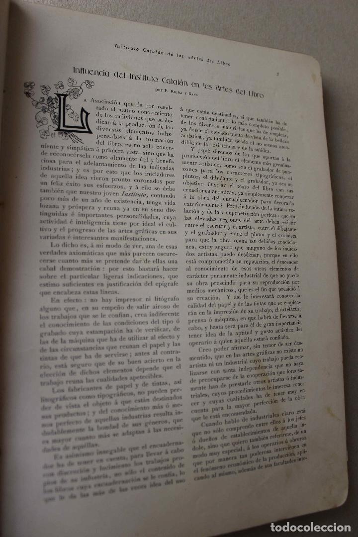 Libros antiguos: Revista Gràfica en el V centenari d'en Gutenberg. Institut Català d'Arts del Llibre. 1900 Canivell - Foto 7 - 61821556
