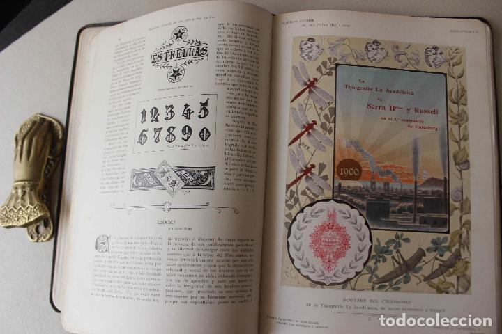 Libros antiguos: Revista Gràfica en el V centenari d'en Gutenberg. Institut Català d'Arts del Llibre. 1900 Canivell - Foto 14 - 61821556