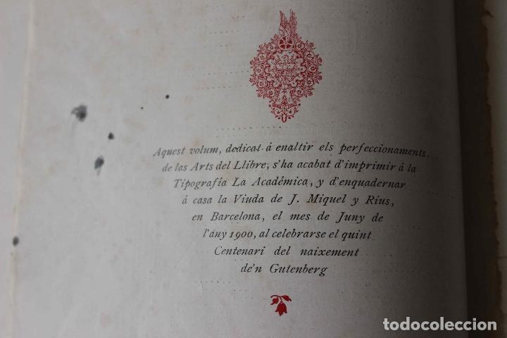 Libros antiguos: Revista Gràfica en el V centenari d'en Gutenberg. Institut Català d'Arts del Llibre. 1900 Canivell - Foto 27 - 61821556