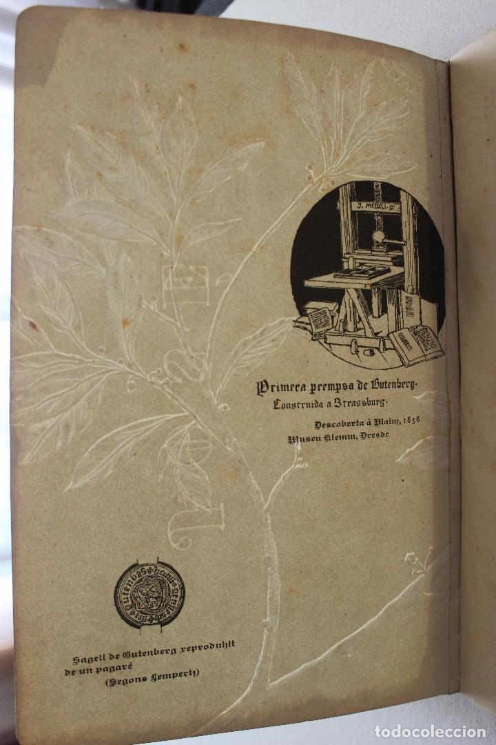 Libros antiguos: Revista Gràfica en el V centenari d'en Gutenberg. Institut Català d'Arts del Llibre. 1900 Canivell - Foto 28 - 61821556