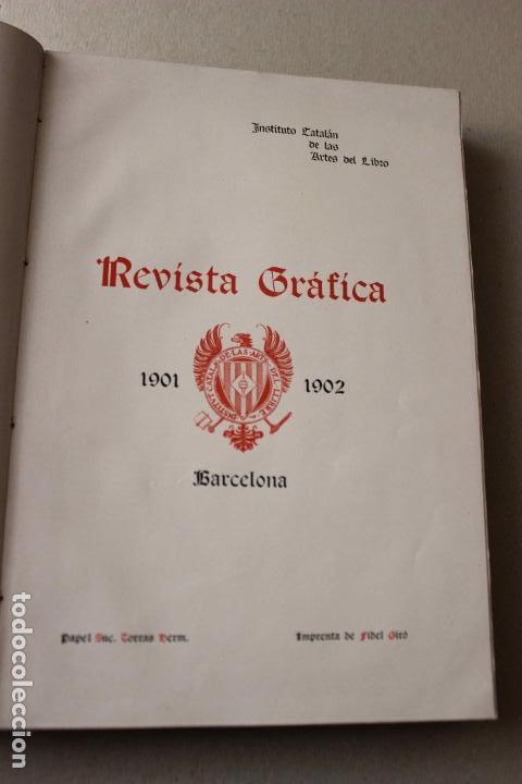 Libros antiguos: Revista grafica. Institut Català Arts del Llibre. 1901 num 419/1100. Canivell. Oliva de Vilanova - Foto 4 - 61851012