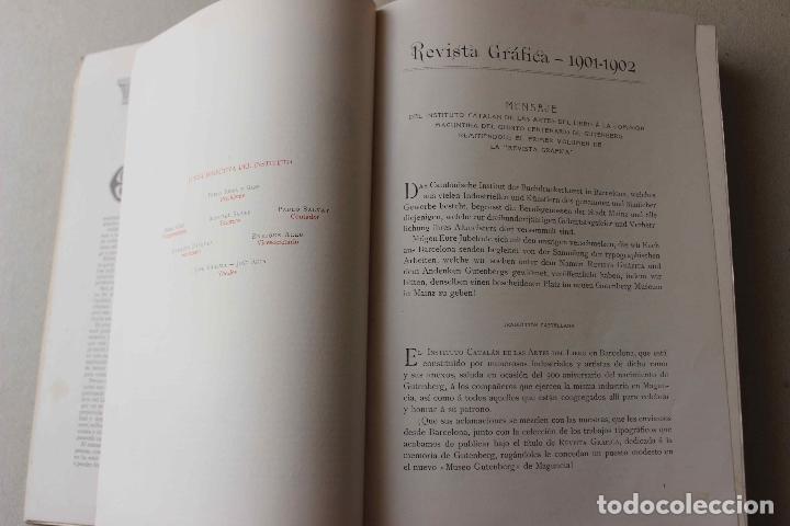 Libros antiguos: Revista grafica. Institut Català Arts del Llibre. 1901 num 419/1100. Canivell. Oliva de Vilanova - Foto 5 - 61851012