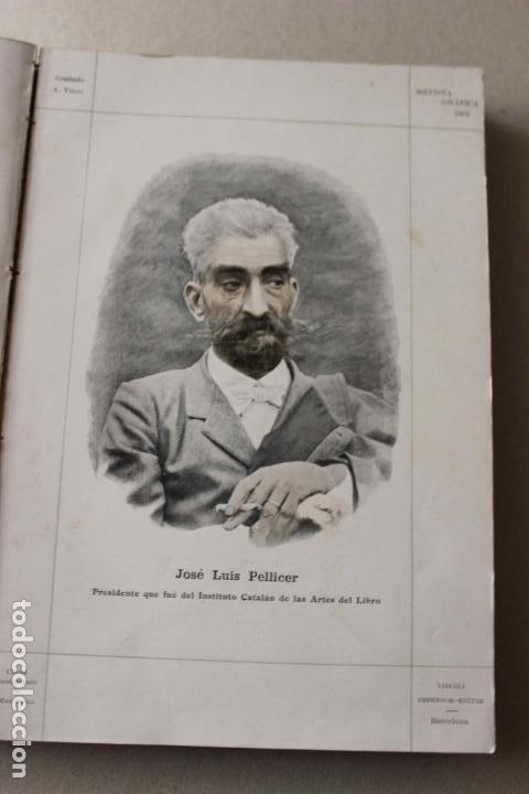 Libros antiguos: Revista grafica. Institut Català Arts del Llibre. 1901 num 419/1100. Canivell. Oliva de Vilanova - Foto 7 - 61851012