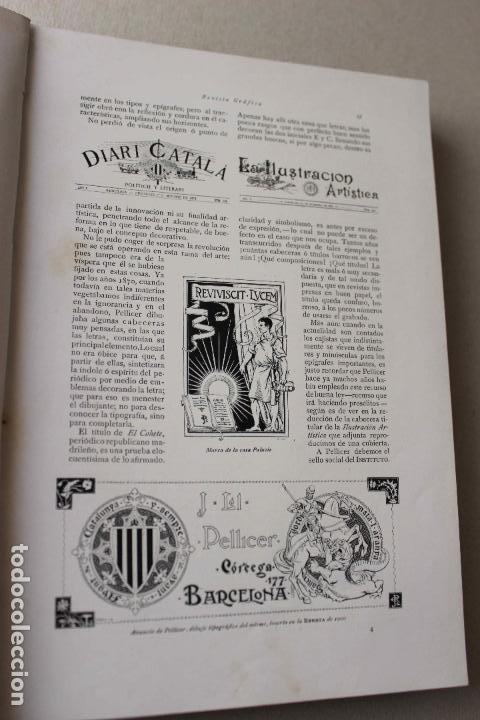 Libros antiguos: Revista grafica. Institut Català Arts del Llibre. 1901 num 419/1100. Canivell. Oliva de Vilanova - Foto 11 - 61851012