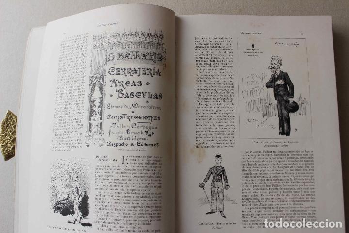 Libros antiguos: Revista grafica. Institut Català Arts del Llibre. 1901 num 419/1100. Canivell. Oliva de Vilanova - Foto 12 - 61851012