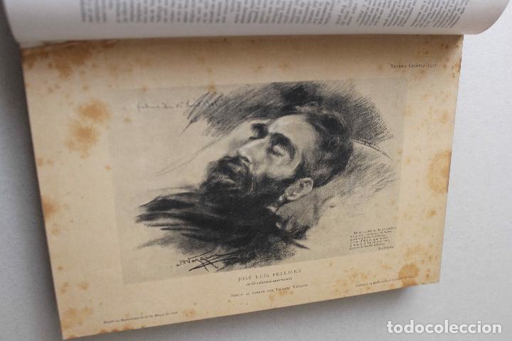 Libros antiguos: Revista grafica. Institut Català Arts del Llibre. 1901 num 419/1100. Canivell. Oliva de Vilanova - Foto 13 - 61851012