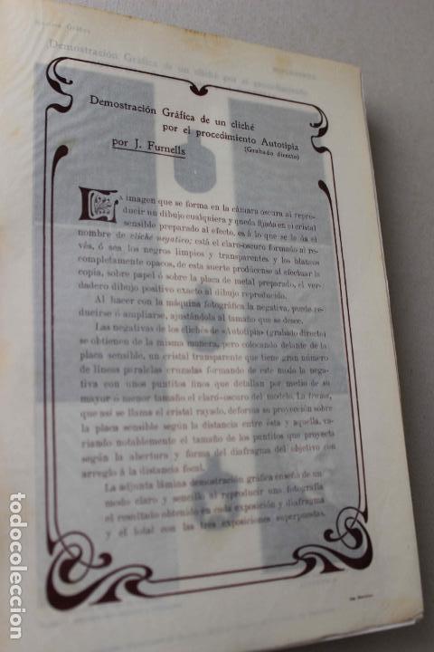 Libros antiguos: Revista grafica. Institut Català Arts del Llibre. 1901 num 419/1100. Canivell. Oliva de Vilanova - Foto 14 - 61851012