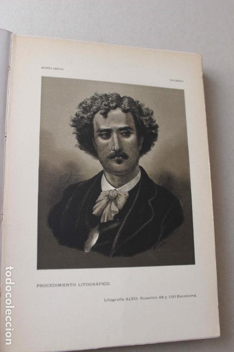 Libros antiguos: Revista grafica. Institut Català Arts del Llibre. 1901 num 419/1100. Canivell. Oliva de Vilanova - Foto 15 - 61851012
