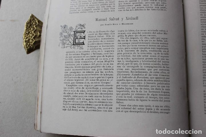 Libros antiguos: Revista grafica. Institut Català Arts del Llibre. 1901 num 419/1100. Canivell. Oliva de Vilanova - Foto 16 - 61851012