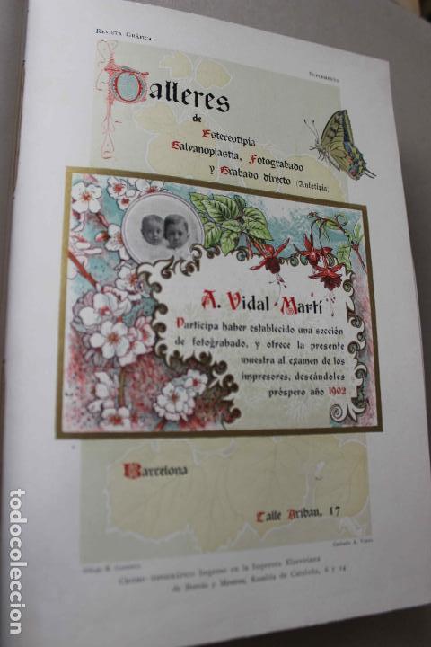 Libros antiguos: Revista grafica. Institut Català Arts del Llibre. 1901 num 419/1100. Canivell. Oliva de Vilanova - Foto 20 - 61851012