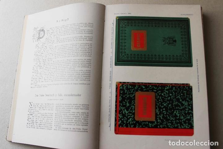 Libros antiguos: Revista grafica. Institut Català Arts del Llibre. 1901 num 419/1100. Canivell. Oliva de Vilanova - Foto 21 - 61851012