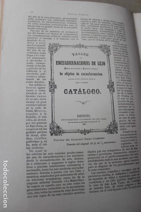 Libros antiguos: Revista grafica. Institut Català Arts del Llibre. 1901 num 419/1100. Canivell. Oliva de Vilanova - Foto 23 - 61851012