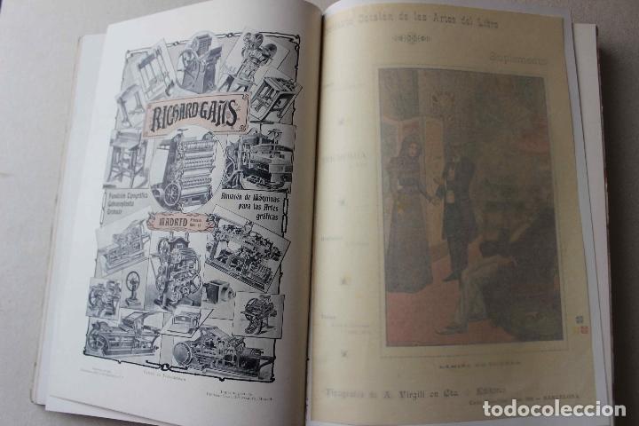 Libros antiguos: Revista grafica. Institut Català Arts del Llibre. 1901 num 419/1100. Canivell. Oliva de Vilanova - Foto 24 - 61851012
