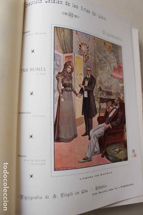 Libros antiguos: Revista grafica. Institut Català Arts del Llibre. 1901 num 419/1100. Canivell. Oliva de Vilanova - Foto 25 - 61851012